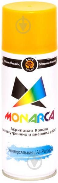 Краска MONARCA аэрозольная универсальная RAL 1003 желтый глянец 270 г - фото 1