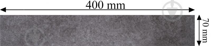 Плитка Декостайл Area Cement антрацитовий плінтус 32У830 7x40 - фото 4