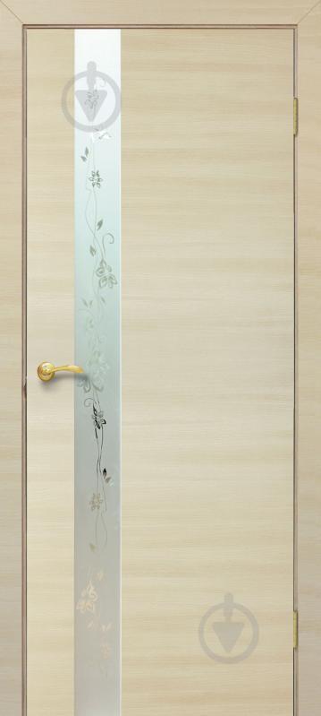 Дверне полотно ПВХ ОМіС Дзеркало 2 800 мм дуб вибілений - фото 1