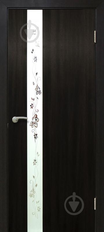 Дверне полотно ПВХ ОМіС Дзеркало 2 800 мм венге - фото 1