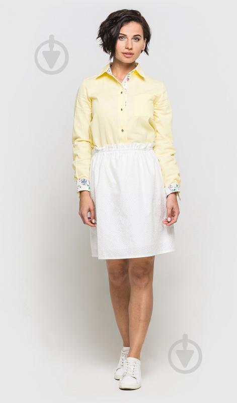 ᐉ Сорочка FABRIKA UA зі вставками р. M жовтий S381 • Краща ціна в ... 5b6f16d1efda4