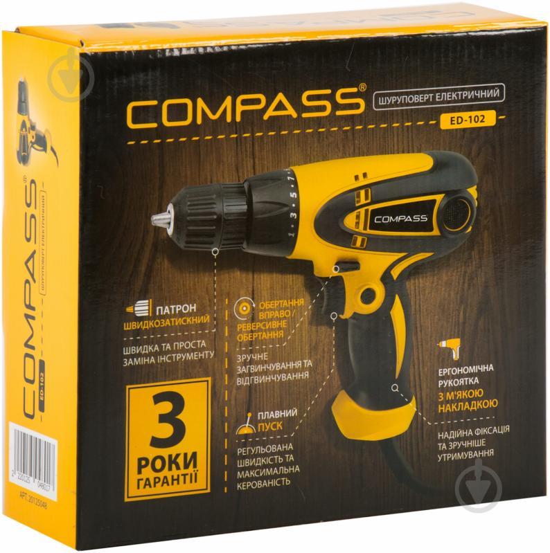 Шуруповерт мережевий Compass ED-102 20125048 - фото 2