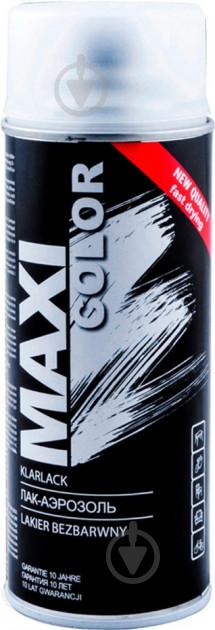 Лак аэрозольный Maxi Color MX0006 бесцветный мат 400 мл - фото 1