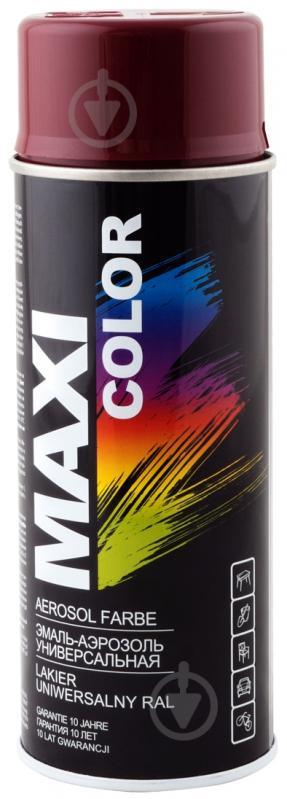 Эмаль аэрозольная RAL 3005 Maxi Color бордовый 400 мл - фото 1