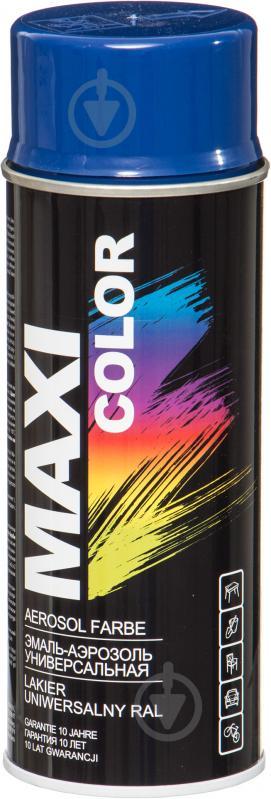 Эмаль Maxi Color аэрозольная RAL 5002 синий глянец 400 мл - фото 1