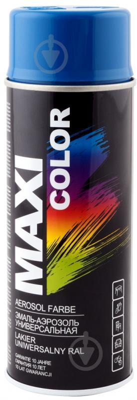 Емаль аерозольна RAL 5010 Maxi Color темно-синій 400 мл - фото 1