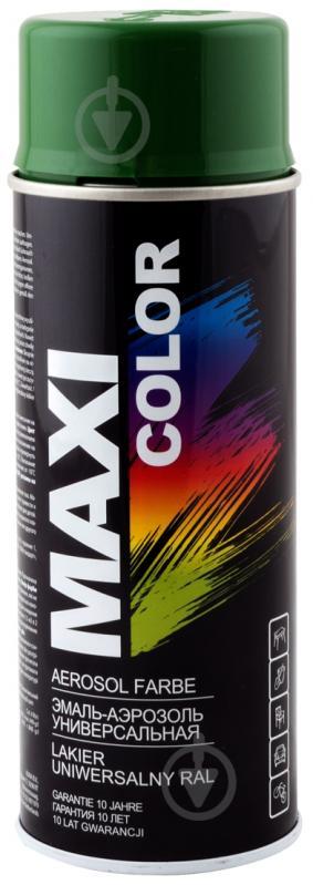 Эмаль аэрозольная RAL 6002 Maxi Color зеленый 400 мл - фото 1