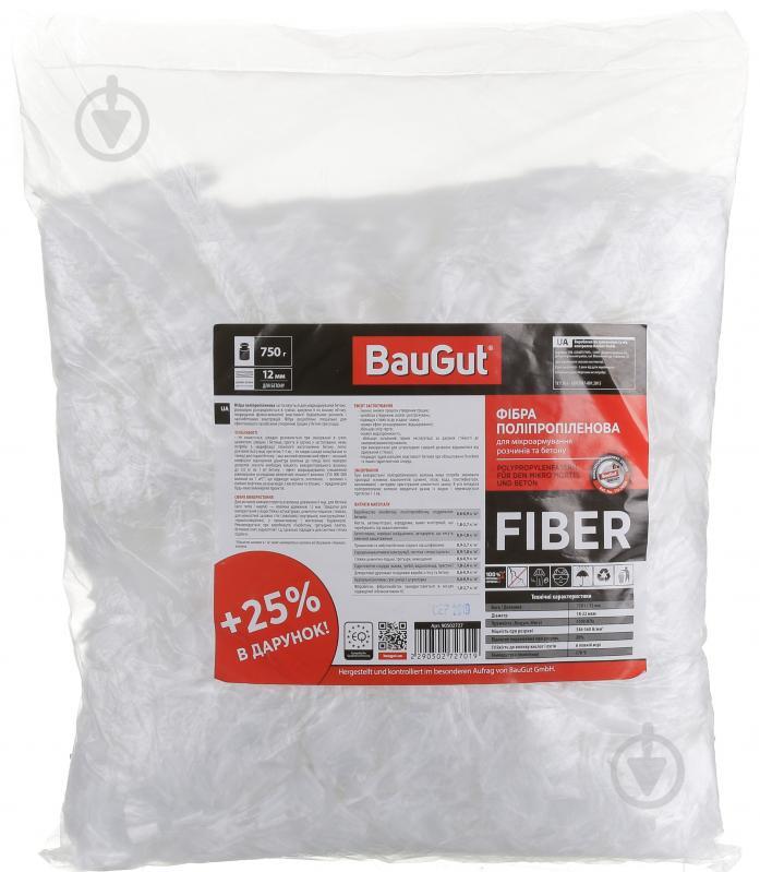 Фибра полипропиленовая BauGut к растворам и бетонам 12 мм 0,75 кг - фото 1