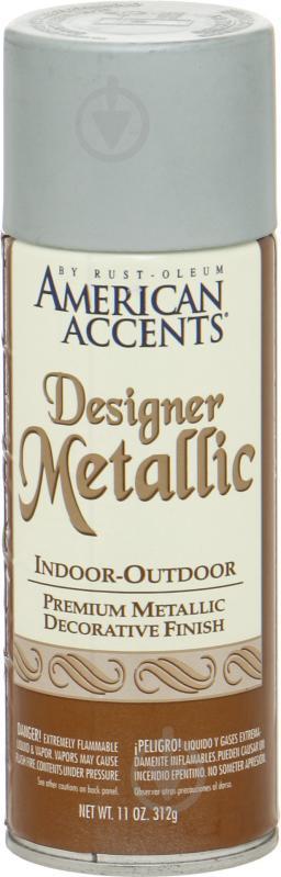 Краска аэрозольная Designer Metallic Rust Oleum серебро 312 мл - фото 1