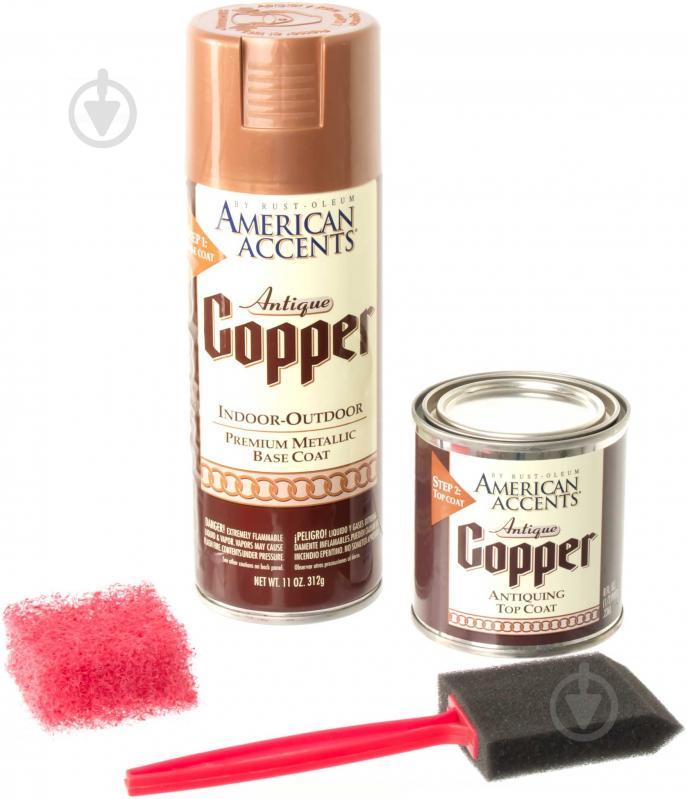 Набір декоративний Antique Copper Rust Oleum антична мідь 576 г - фото 4