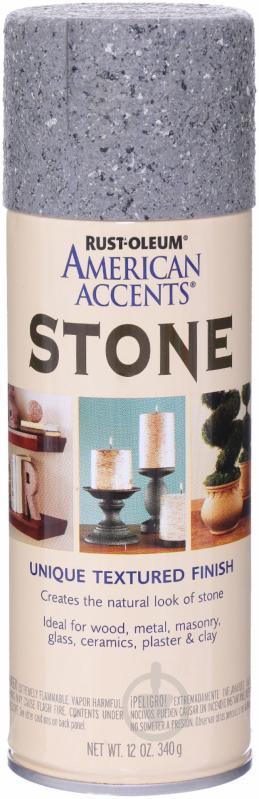 Краска аэрозольная Stone textured finish Rust Oleum серый камень 340 мл - фото 1