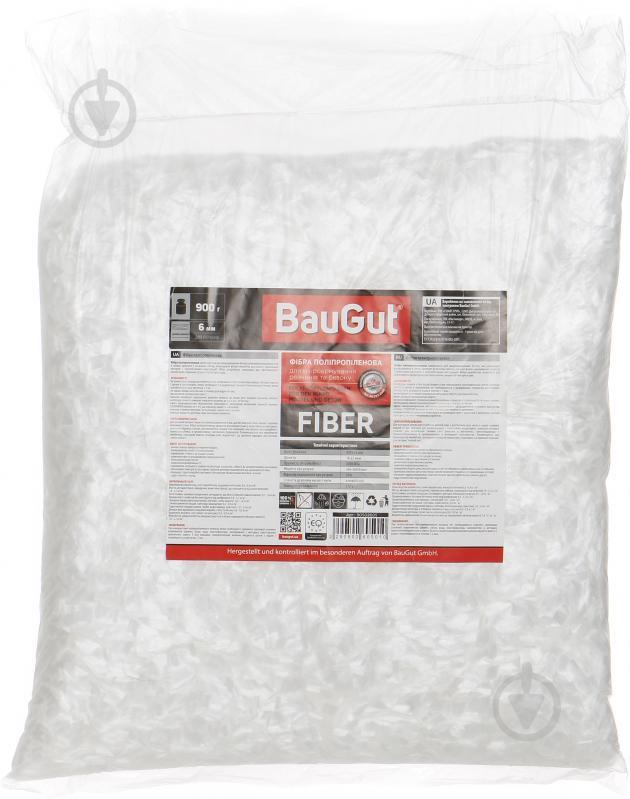 Фибра полипропиленовая BauGut 6 мм 0,9 кг - фото 1