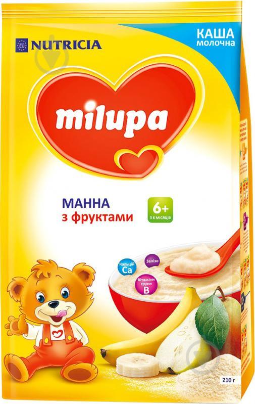 Каша молочна Milupa манна з фруктами 610021 5900852930041 210 г - фото 1