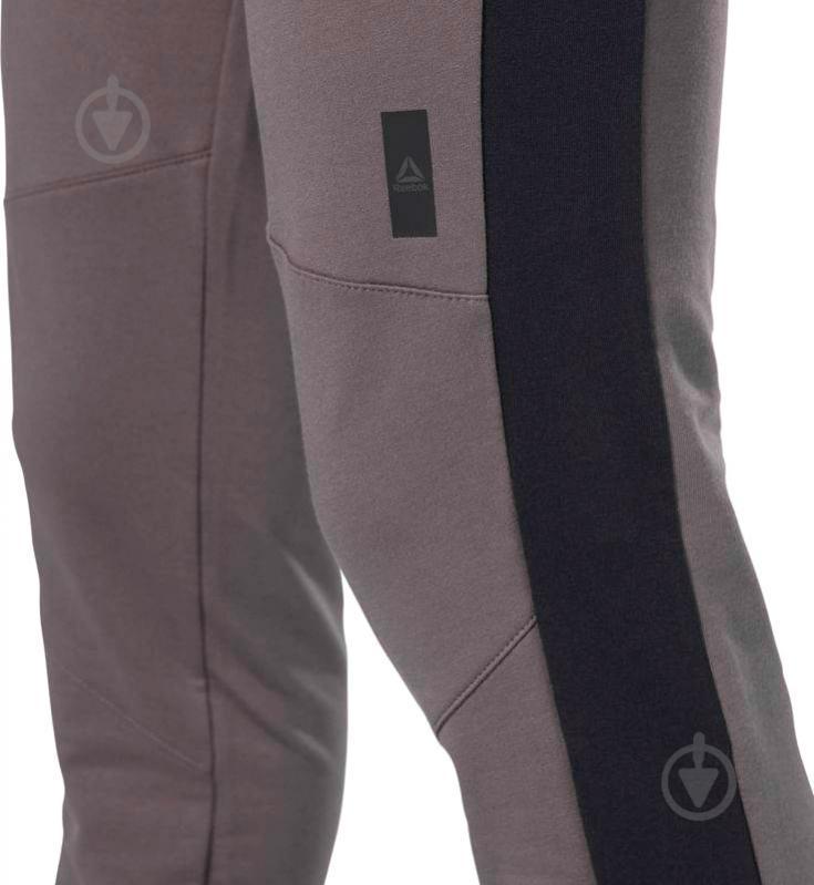 Брюки Reebok TS Slim Jogger р. S темно-серый D94262 - фото 4
