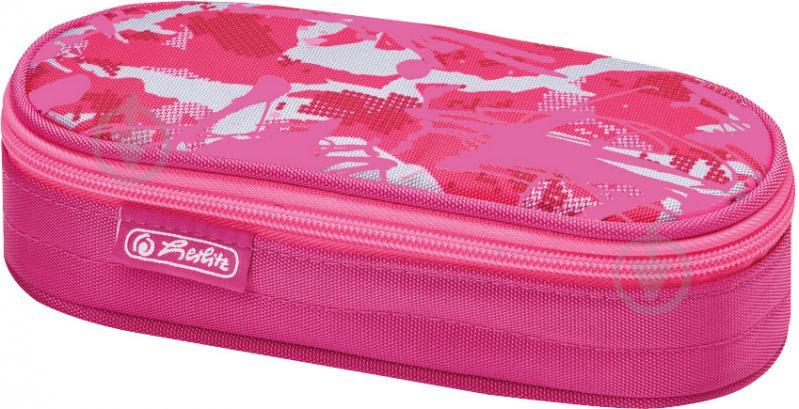 Пенал Be.Bag AIRGO Camouflage Girl 50015177 Herlitz рожевий - фото 1