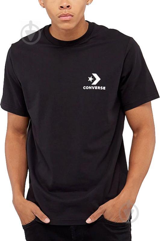 Футболка Converse Left Chest Star Chevron Tee 10007886-001 S черный - фото 2