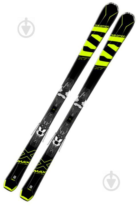 Лыжи Salomon X-Max X7 Ti L40053100 + Mercury L80 B L39879600 162 см черный с желтым - фото 1