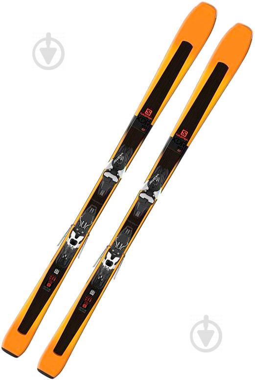 Лыжи Salomon XDR X80 ST + Mercury 11 170 см черный с оранжевым - фото 1