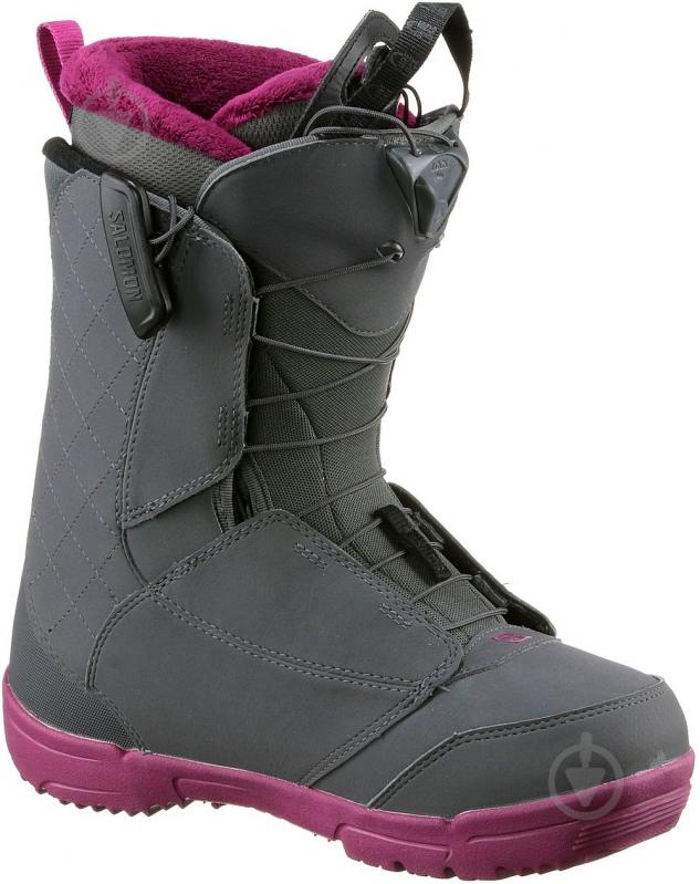 Ботинки горнолыжные Salomon PEARL р. 23,5 L39869900 серый - фото 2