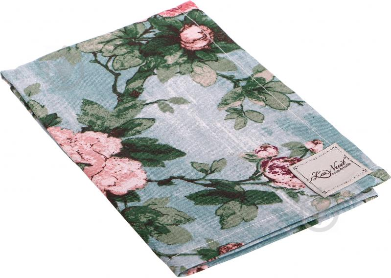 Рушник Троянди бірюза 44x66 см La Nuit бірюзовий - фото 1