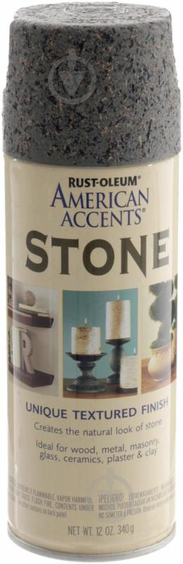 Краска аэрозольная Stone Unique textured finish Rust Oleum гранит 340 г - фото 1