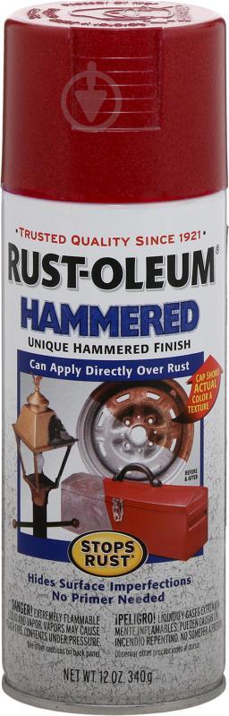 Краска аэрозольная антикоррозионная Hammered Rust Oleum красный 340 г - фото 1