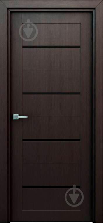 Дверне полотно Інтер'єрні двері Оріон штучний шпон ПО 800 мм венге - фото 1