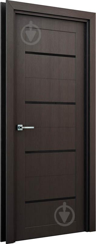 Дверне полотно Інтер'єрні двері Оріон штучний шпон ПО 800 мм венге - фото 2