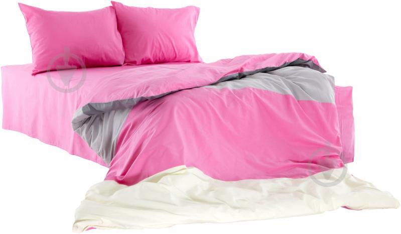 Комплект постільної білизни DES.05 S 1,5 сатин рожевий La Nuit - фото 1