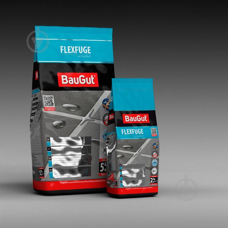 Фуга BauGut flexfuge 113 2 кг темно-серый - фото 3
