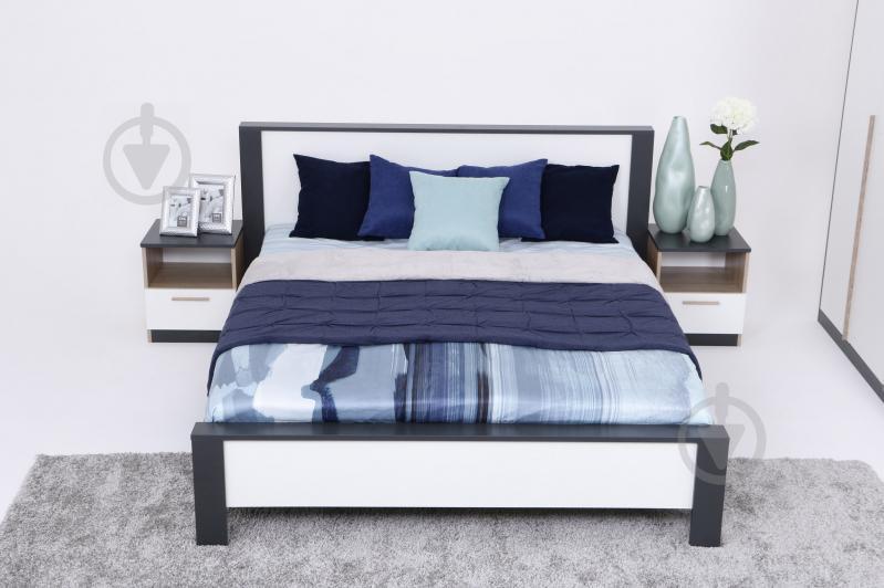 Ліжко Embawood Леді W1600 160x200 см дуб сонома/антрацит - фото 1