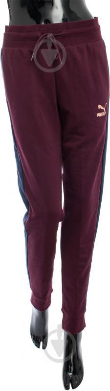Спортивные брюки Puma р. S бордовый 57146905 - фото 1