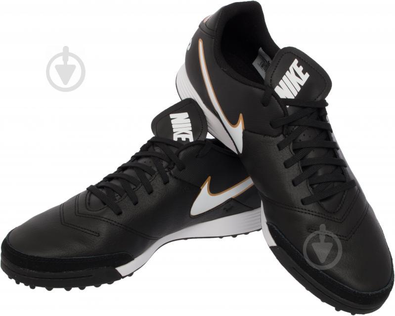 Футбольні бутси Nike Tiempo Genio II Leather TF 819196-638 р. 11 чорний із білим - фото 1