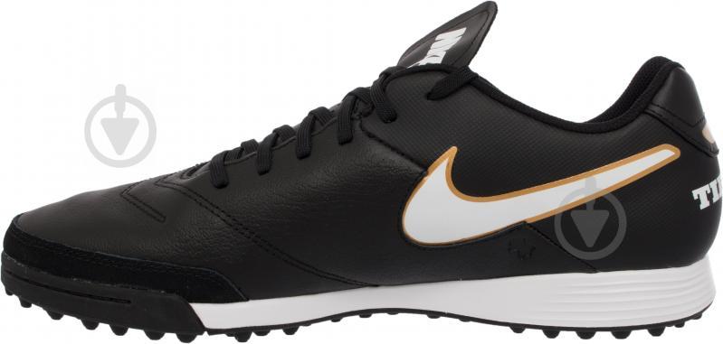 Футбольні бутси Nike Tiempo Genio II Leather TF 819196-638 р. 11 чорний із білим - фото 6