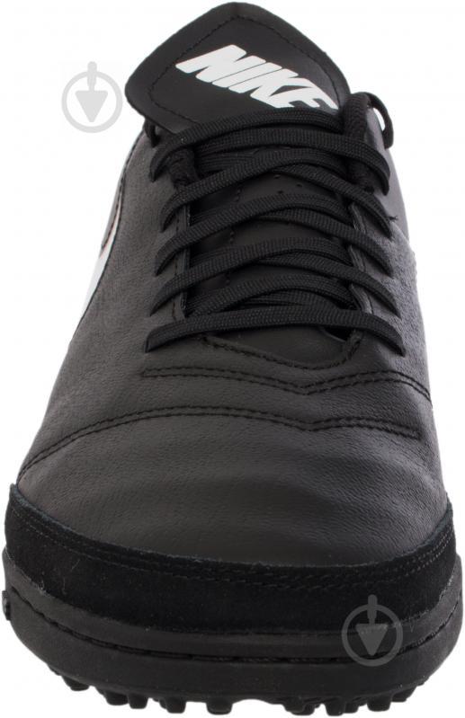 Футбольні бутси Nike Tiempo Genio II Leather TF 819196-638 р. 11 чорний із білим - фото 7