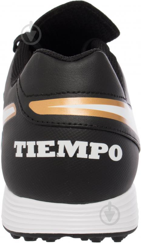 Футбольні бутси Nike Tiempo Genio II Leather TF 819196-638 р. 11 чорний із білим - фото 8