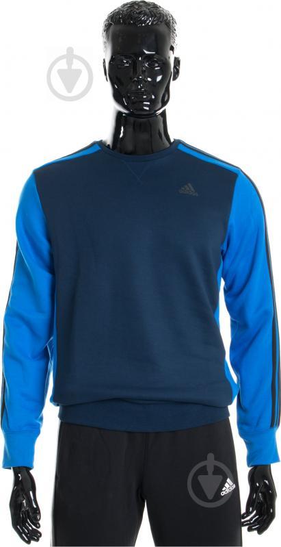 Свитшот Adidas AY5472 р. M синий - фото 1