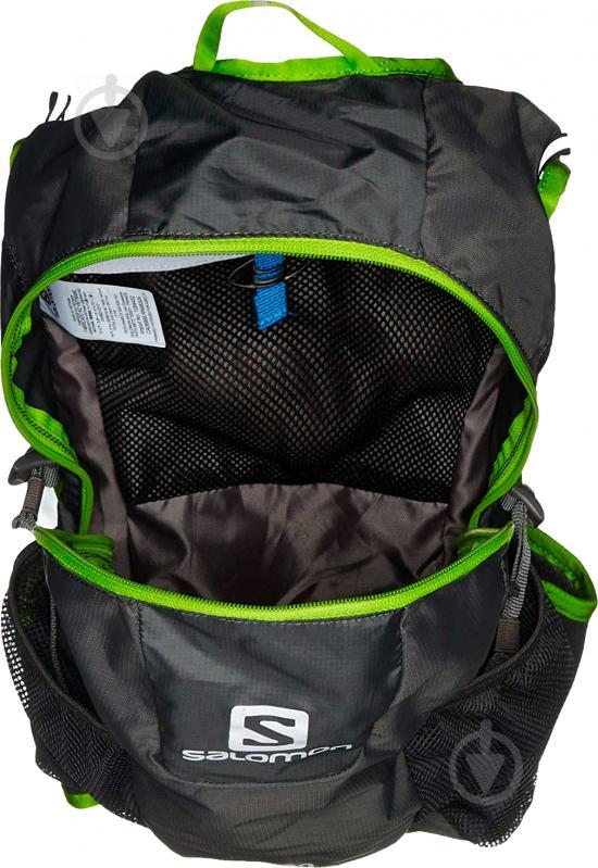 Рюкзак Salomon Trail 20 л серый с зеленым L37998300 - фото 4