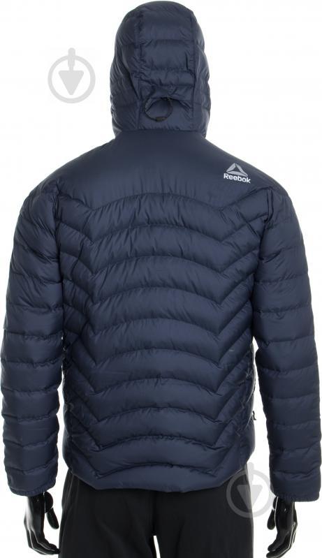 Куртка Reebok с капюшоном р. L синий AX8998 - фото 5