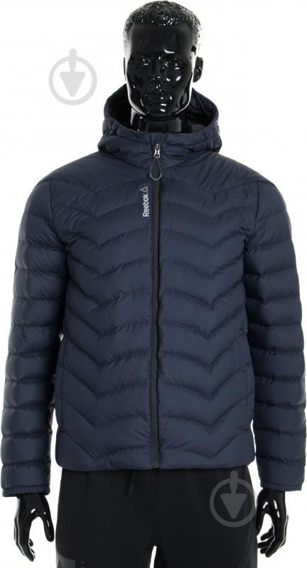 Куртка Reebok с капюшоном р. L синий AX8998 - фото 1