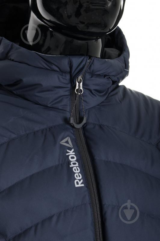 Куртка Reebok с капюшоном р. L синий AX8998 - фото 6