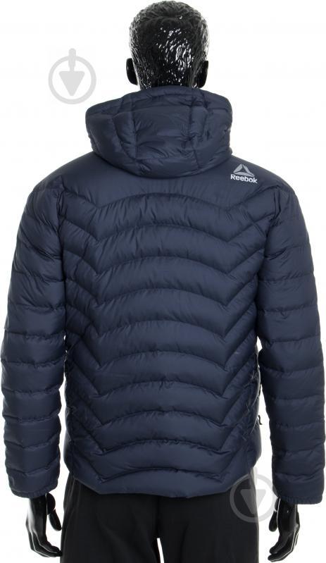 Куртка Reebok с капюшоном р. L синий AX8998 - фото 3