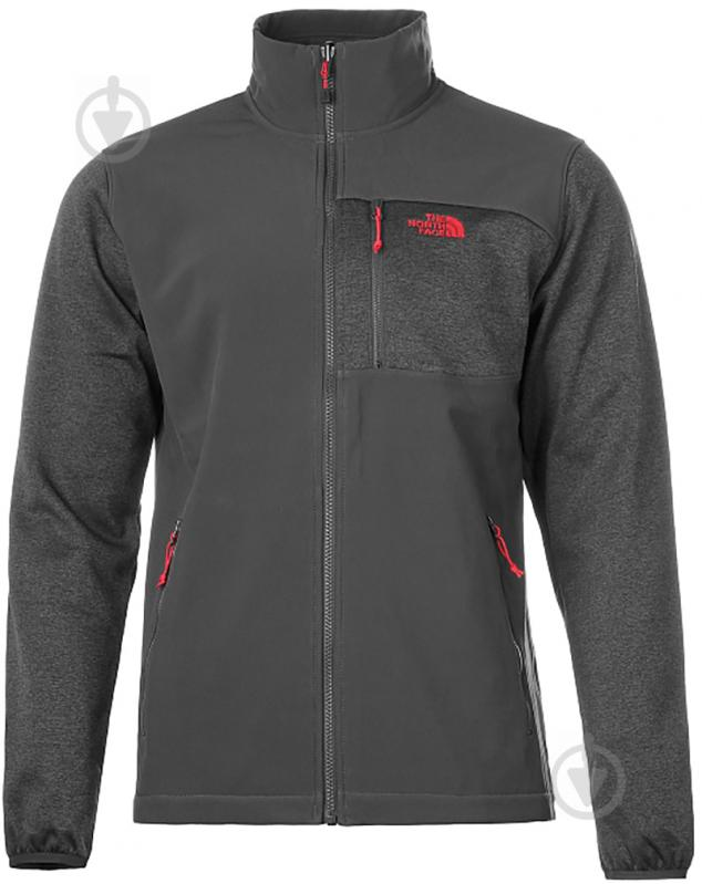 Джемпер THE NORTH FACE M Arashi Hybrid Fleece T937FO0C5 р. L серый - фото 1