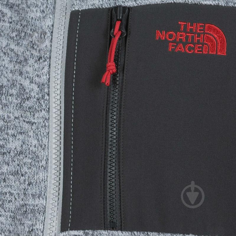 Джемпер THE NORTH FACE M Arashi Inner Fleece T937FQDYX р. XL серый меланж - фото 3