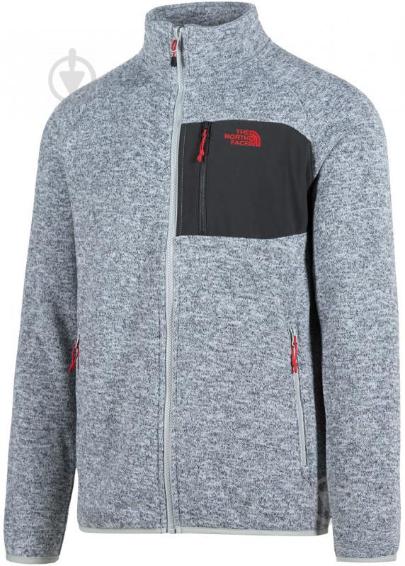 Джемпер THE NORTH FACE M Arashi Inner Fleece T937FQDYX р. XL серый меланж - фото 1