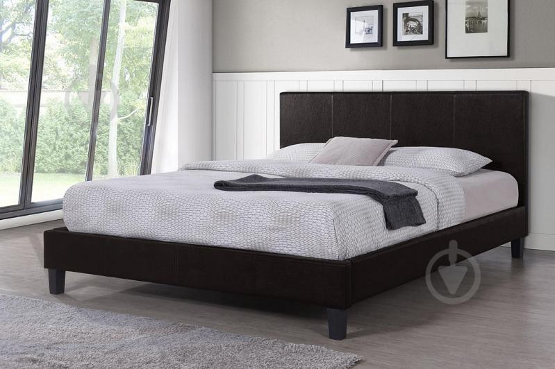 Ліжко Ніка 160x200 см темно-коричневий - фото 2