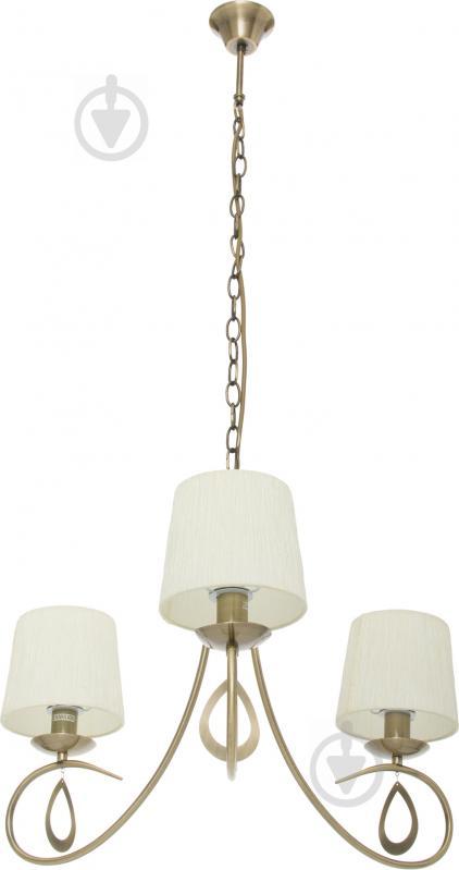 Люстра подвесная Victoria Lighting 3x40 Вт E14 античная бронза Lin/SP3 - фото 1