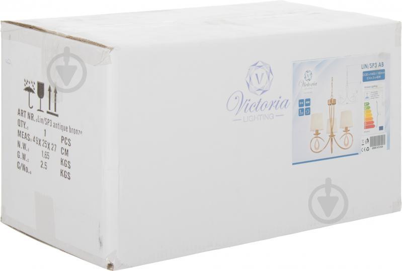 Люстра подвесная Victoria Lighting 3x40 Вт E14 античная бронза Lin/SP3 - фото 3