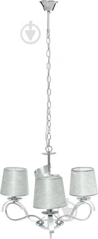 Люстра підвісна Victoria Lighting 3x40 Вт E14 хром/срібло Rosalia/SP3 - фото 3