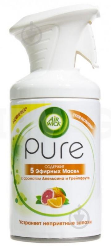 Спрей Air Wick Pure с ароматом Апельсина и грейпфрута 250 мл - фото 1